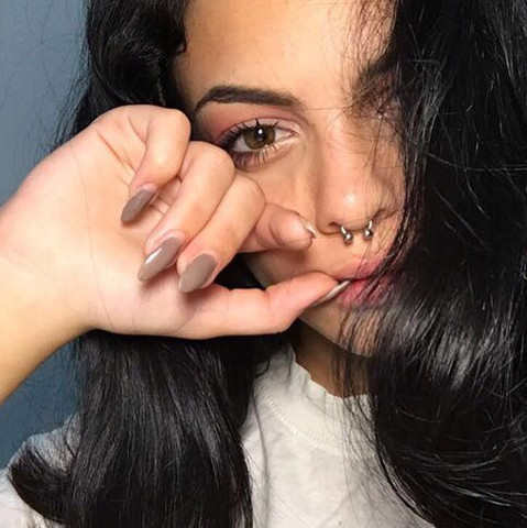 Hier  - (Piercing, Style, Nase)