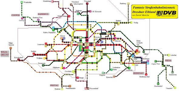 Wie findet ihr mein Fantasie Dresdner Straßenbahnliniennetz?
