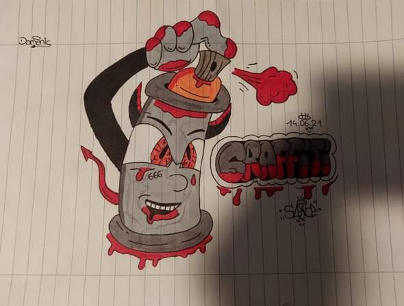 Wie findet ihr mein neues Graffiti? :D?