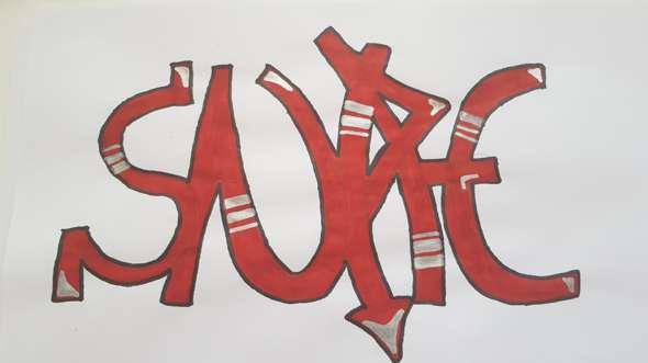 Wie findet ihr meine erste Grafitti Sketch?