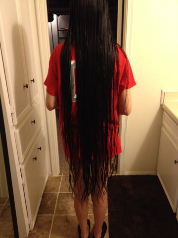 Extrem lange haare hochstecken