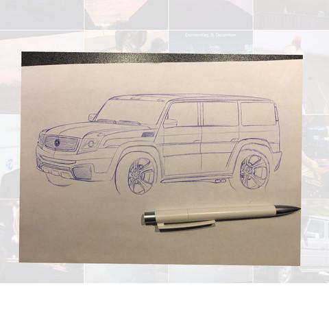 Wie findet ihr meine Zeichnung/Entwurf (Mercedes G-Klasse)? (Auto ...