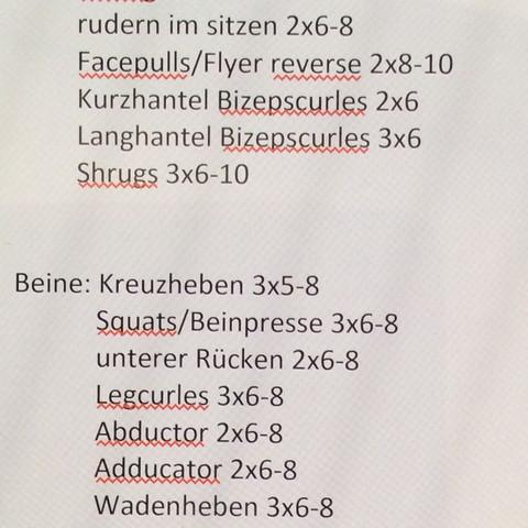 Beine - (Training, Kraftsport, Trainingsplan)