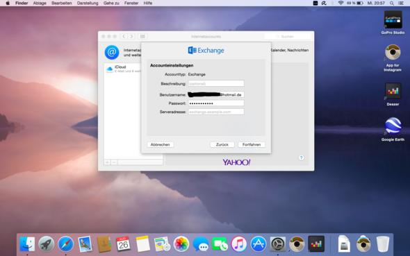 Bei Serveradresse - (Apple, Macbook, E-Mail)