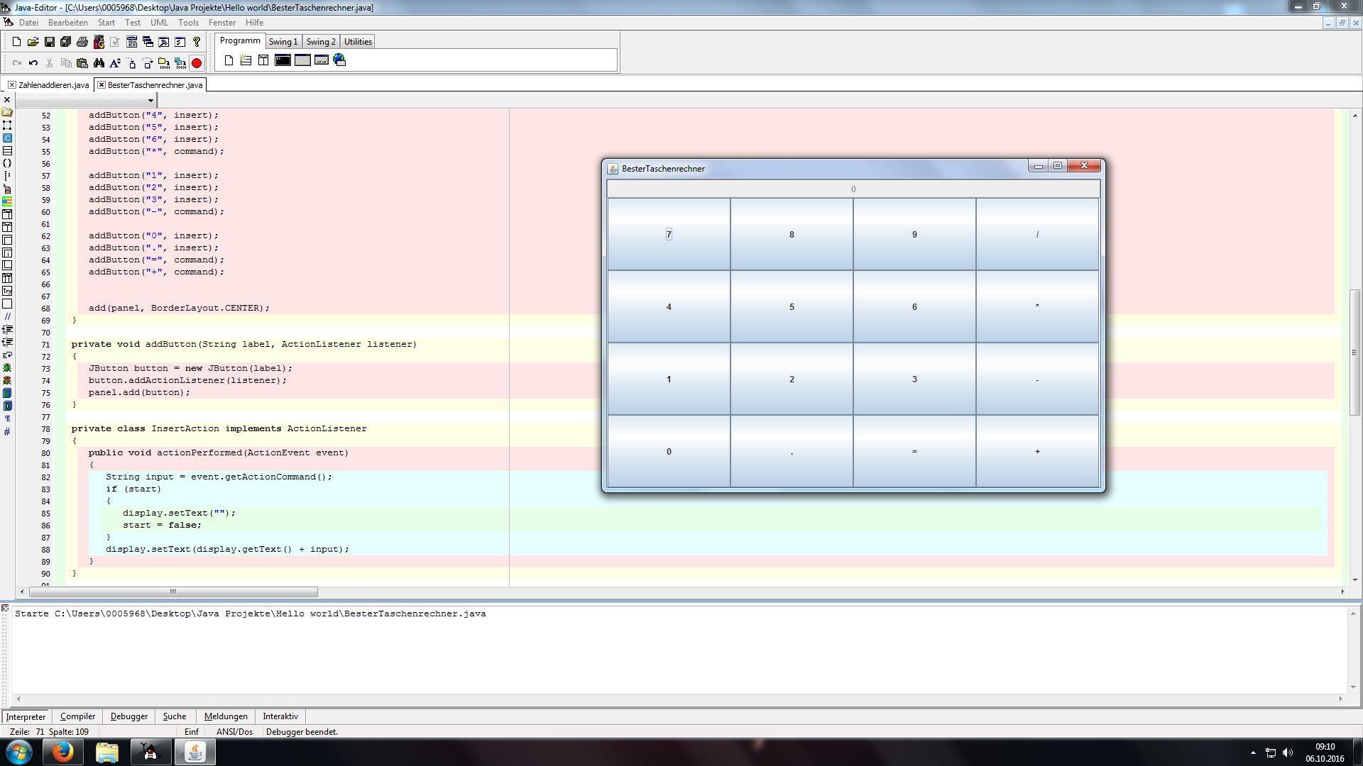 Wie füge ich eine Wurzel Funktion in einen Java Taschenrechner mit ...