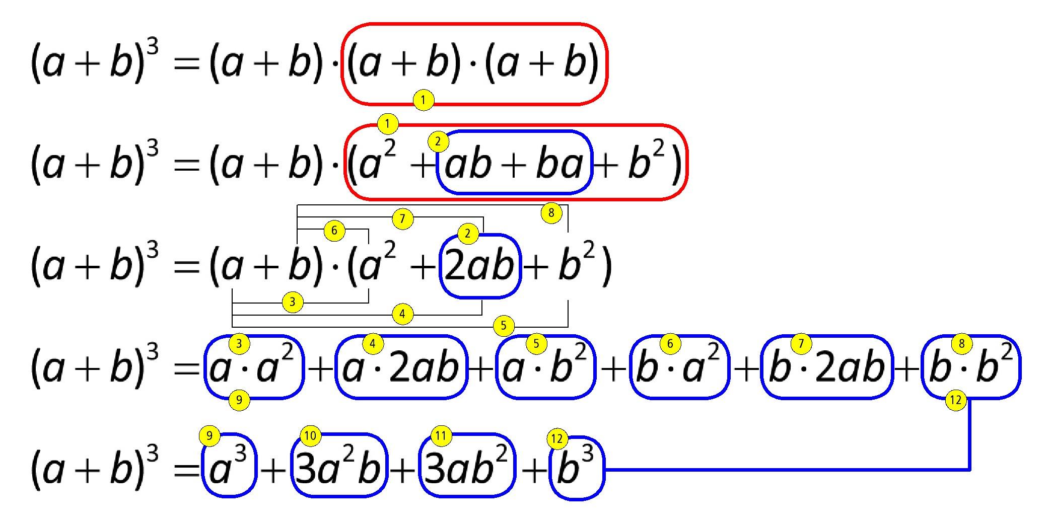 wie funktioniert das aufl sen der binomischen formel hoch 3 siehe anhang mathe mathematik. Black Bedroom Furniture Sets. Home Design Ideas