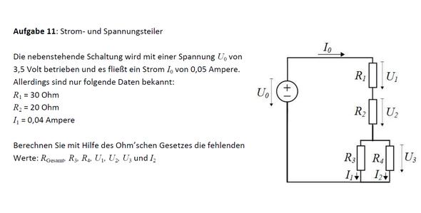 Aufgabe - (Physik, Hausaufgaben, Elektrotechnik)