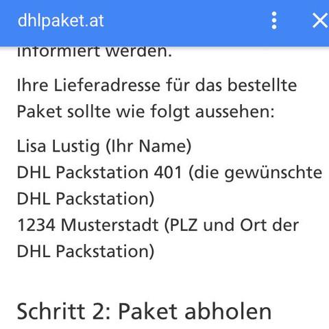 Laut internet muss man es so beschriften - (Post, Paket, DHL)