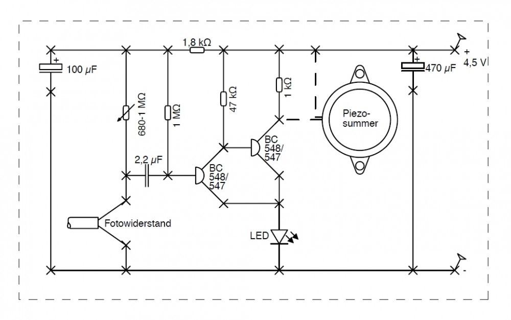 Wie funktioniert dieser Schaltplan eines Bewegungsmelders? (Technik ...