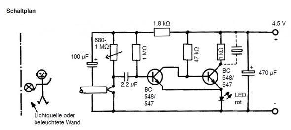 Schaltplan-Bewegungsmelder - (Technik, Elektrotechnik, Schaltplan)