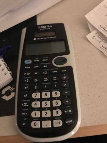 Wie gebe ich den sinus wert in diesem Taschenrechner ein?
