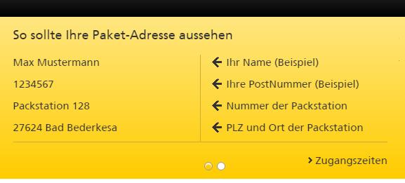 Packstation Adresse Angeben Ohne Adresszusatz