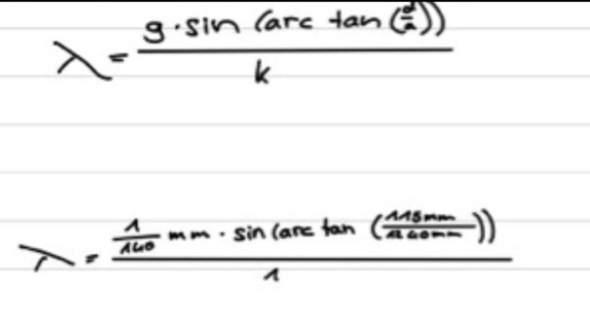 Wie gebe ich diese Formel in den Taschenrechner ein?