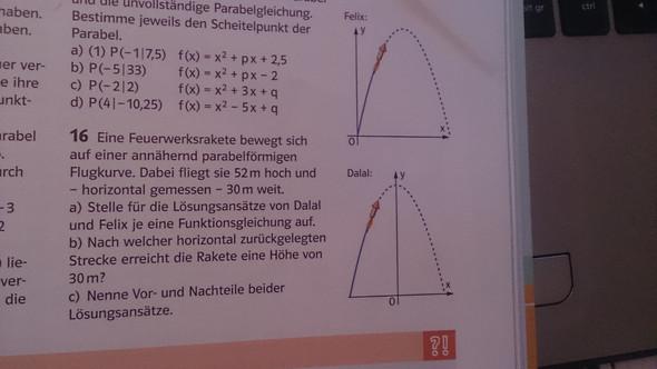 Bei Felix muss eine Gleichung mit klammer sein - (Mathe, Funktion, Aufgabe)
