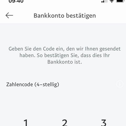 bankkonto bestätigen