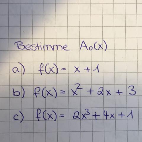 Hier die Funktionen - (Schule, Mathe, Mathematik)