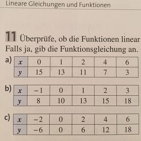 Die erste  - (Mathe, Funktionsgleichung, linearegleichungen)