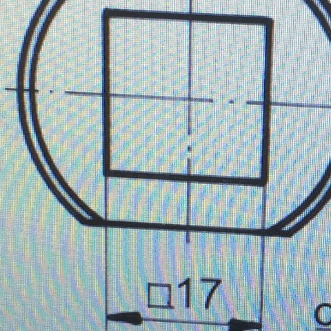 Querstriches Loch in TZ - (Ingenieur, Zeichnung, Technische Zeichnung)