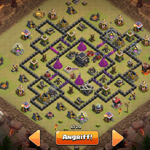 Base  - (clash of clans, Strategie, rathaus 9)
