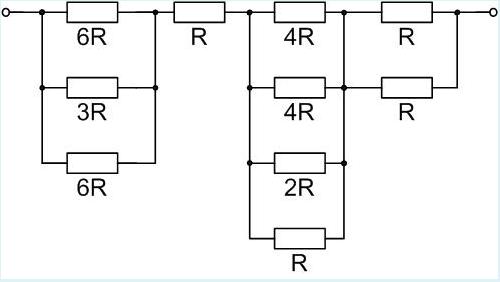 Wie groß ist der Gesamtwiederstand der Schaltung wenn R= 276 kOhm beträgt?