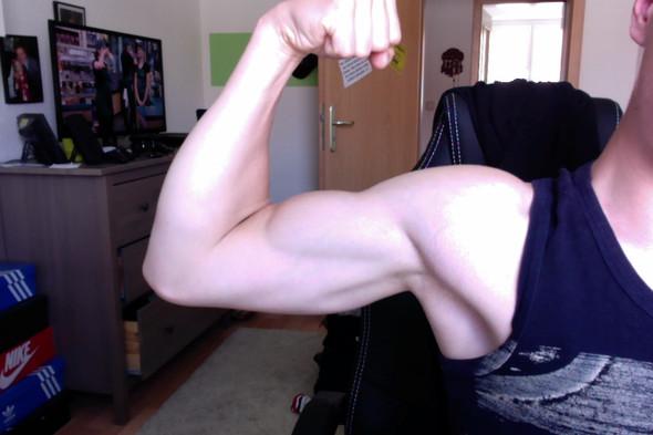 Mein Oberarm - (Training, Muskeln, Fitnessstudio)