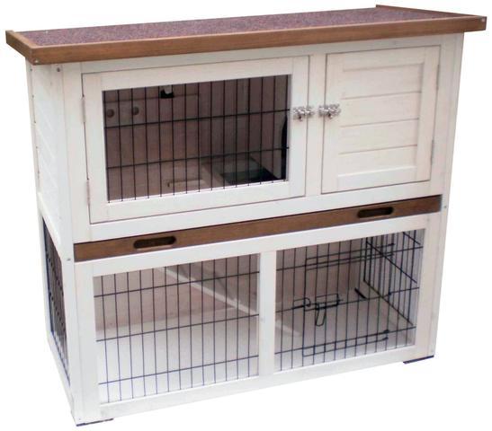 92 x 45 x 80 cm, zweistöckig - (Tiere, Kaninchen, Tierhaltung)