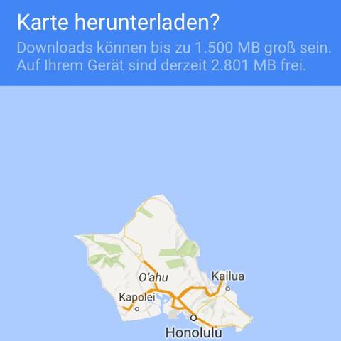Wie Gross Ware Die Offline Karte Bei Google Maps Wenn Man Die Ganze