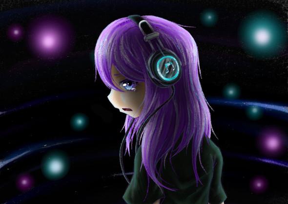Weinendes Anime-Mädchen - (zeichnen, malen)