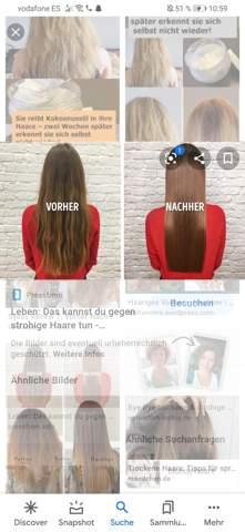 Wie Haare so hinbekommen?