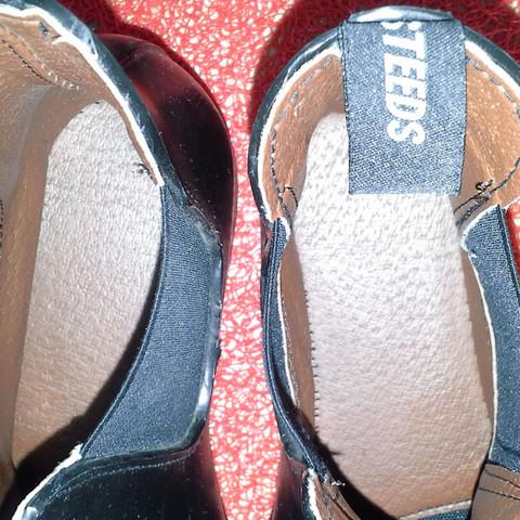Bild von innen  - (Schuhe, schwarz, Leder)