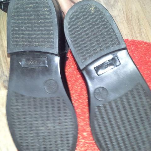 Bild von unten  - (Schuhe, schwarz, Leder)