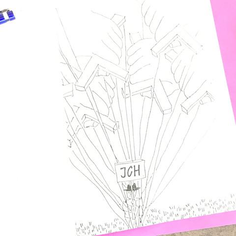 Hier ist ein Bild von der Karikatur - (Marionette, Seile, Holzstück)