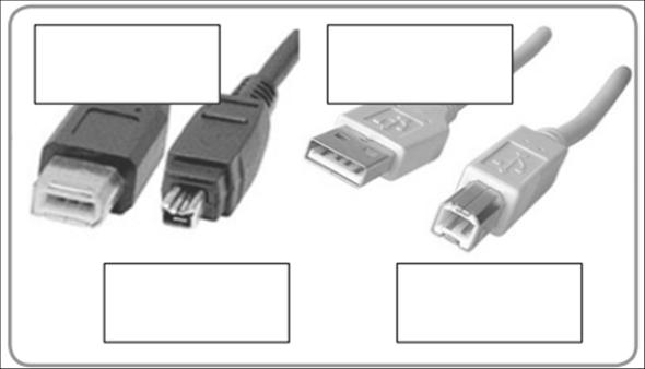 Wie heißen diese 4 Stecker (INFORMATIK)?