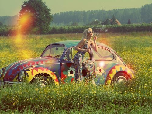Hippy Car - (Auto, car, Cars)