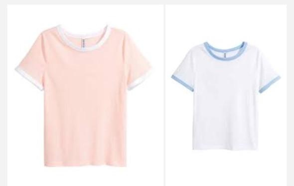 also wegen den Ärmeln und am Hals - (Mode, Tshirt)