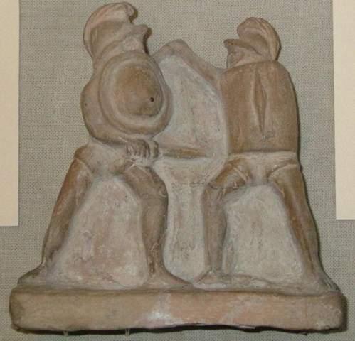 Wie heißen Terrakotta die Gladiatoren während des Kampfes anzeigen?