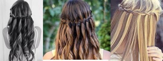 Frisur Wasserfall Locken Schone Frisuren