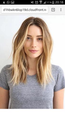 Dunkler ansatz blonde haare