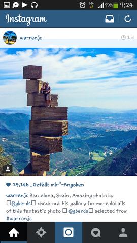 Barcelona Gebilde Treppe aus Holz - (Spanien, Holz, berühmt)