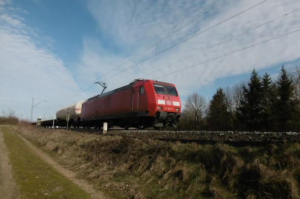 Dieser Güterzug führte wegen techn.Problem zu einer Streckensperrung am Samstag - (Bahn, DB, Signaltechnik)