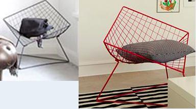 Wie hei t dieser design stuhl m bel architektur designer for Draht stuhl design