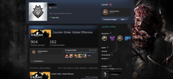 hier der gesuchte Hintergrund - (Steam, Profilhintergrund)