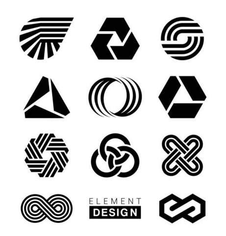 Wie heißt dieses allgemeine Design (Designart) wie diese Vektorgrafiken Logos hier und mit welchem Programm erstellt man diese am besten?
