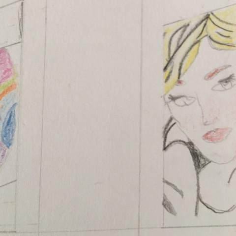 Die Frau rechts  - (Kunst, Gemälde)