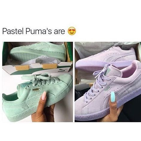 - (Schuhe, Puma, Pastell)