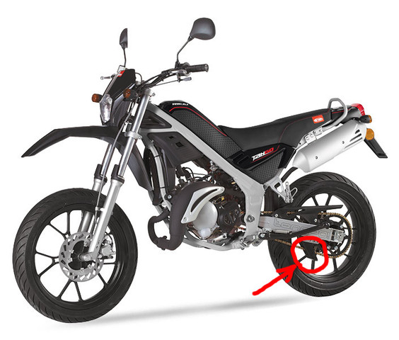 rot markiert - (Technik, Moped)