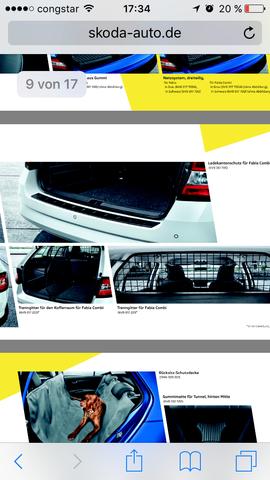 Skoda Kofferraumteiler - (Auto, Hund, Sicherheit)
