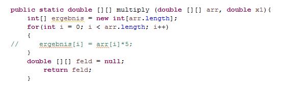 Versuch - (Java, Array)
