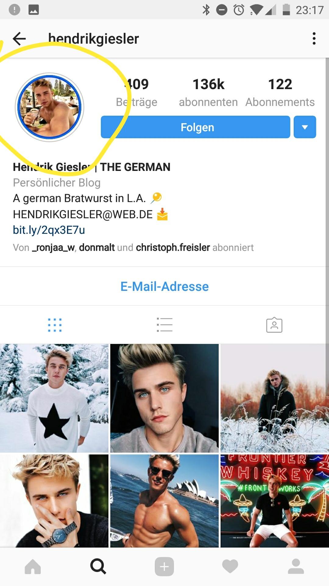 Wie Instagram Profilbild einrahmen? (Bilder)