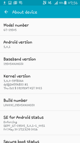 System information  - (Handy, Android, rooten)